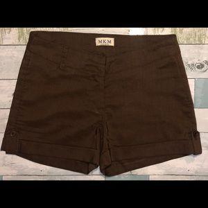 M.K.M Designs Ladies Brown Shorts Size 9/10